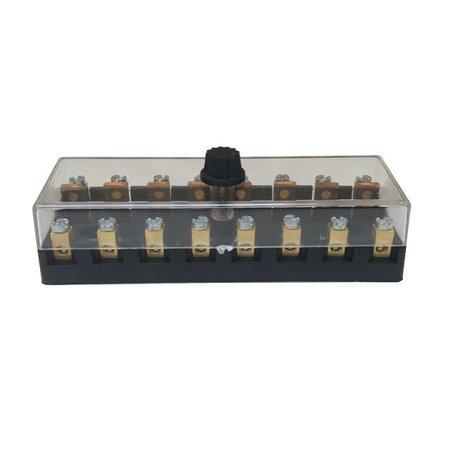 Zekeringhouder / fuse holder | 8 keramische zekeringen
