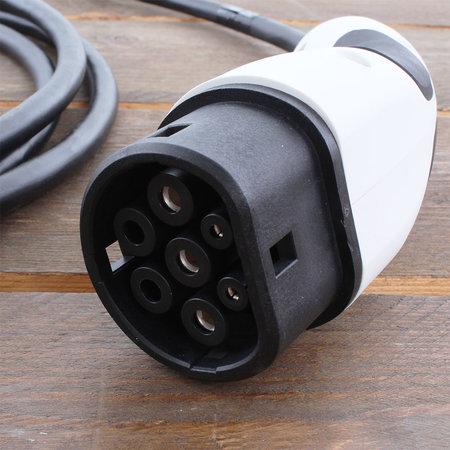Alfen  Eve Single S-line - 3 x 16A - Grijs - 5 meter kabel type 2