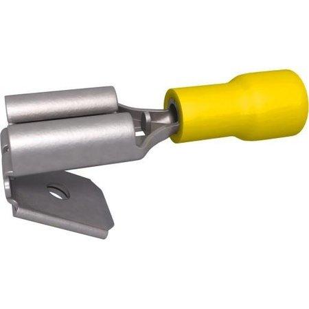 BizLine Kabelschoen/ Vlaksteker Mannelijk/ Vrouwelijk Geel 4-6mm2 - 6,3 x 0,8 mm
