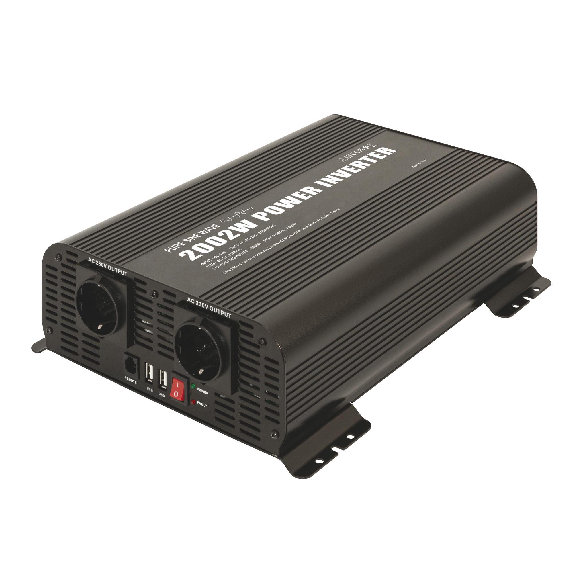Omvormer-inverter PSW 2002W 12V met remote