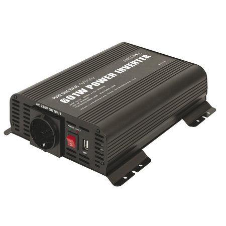 GYS PSW 601W 12V | Omvormer / inverter | 1 x 230V Schuko + 5V USB