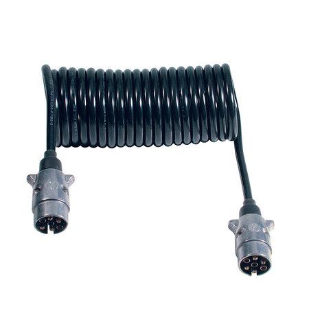 Menbers Spiraalkabel 7-polig 12V Aluminium Stekkers
