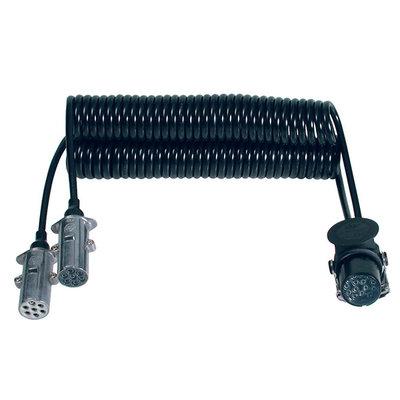 Menbers Spiraalkabel 15-polig naar 2 x 7 polig 24V