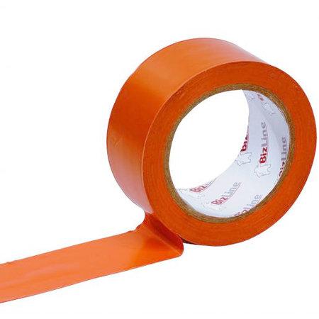 BizLine Zelfklevende brede tape 75mm x 33m PVC Oranje