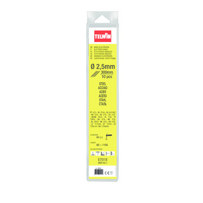 Telwin Basische Laselektroden - 2,5 mm - 300 mm - 10 stuks