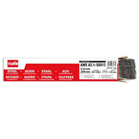 Telwin Rutiel Stalen Laselektroden - 2,5 mm - 300 mm - 2,5 kg - 143 stuks