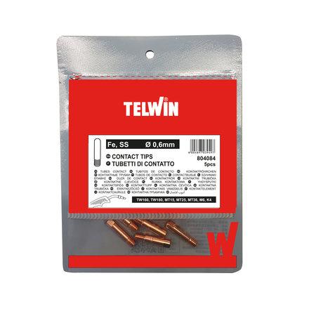 Telwin Lastips/ Contact tips Fe-Ss 0,6 mm CuSi - 5 stuks