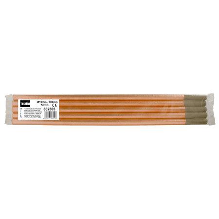 Telwin Koolstof/ Carbon Laselektroden - 10 mm - 300 mm - 5 stuks