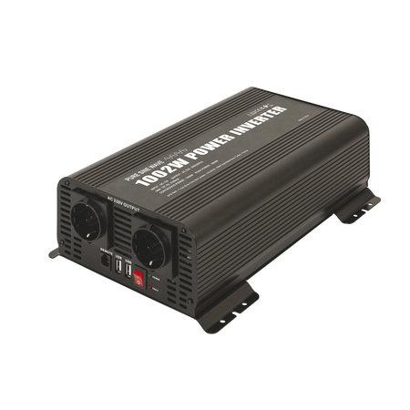 GYS PSW 1002W 12V | Omvormer / inverter | 2 x 230V Schuko + 5V USB