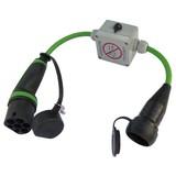 Ratio Adapter type 2 naar schuko met key switch