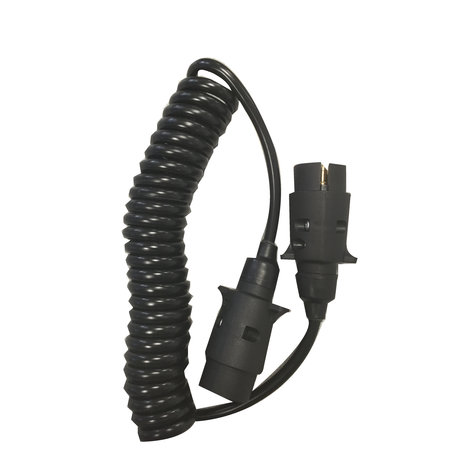 Spiraalkabel 7-polig 1,5mm2 - 12V - 1,5 meter