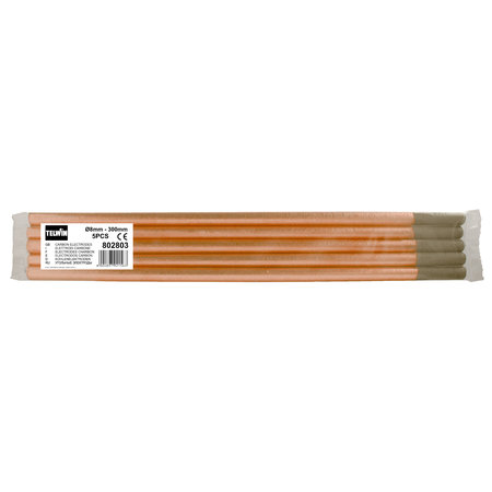 Telwin Koolstof/ Carbon Laselektroden - 8 mm - 300 mm - 5 stuks