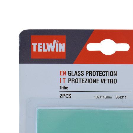 Telwin Beschermglas Buiten voor Lashelm Tribe - Set van twee