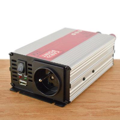 Carpoint Omvormer 12V > 230V 600W met Frans/ Belgisch stopcontact