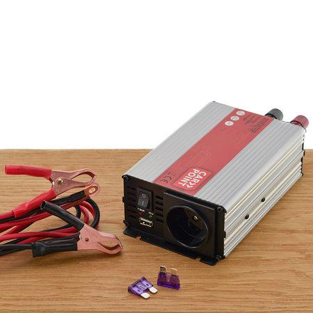 Carpoint Omvormer 12V > 230V 600W - Standaard Schuko Stopcontact