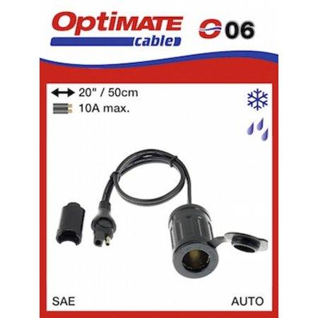 Tecmate Optimate adapter kabel voor SAE naar autostekker O6