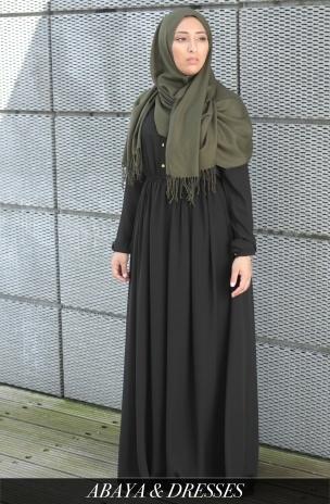 Maxi jurk met lange mouw