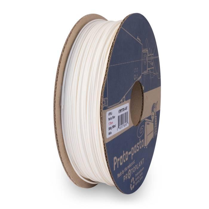 Proto-pasta 1,75 mm Matte Fiber HTPLA filamento, Bianco