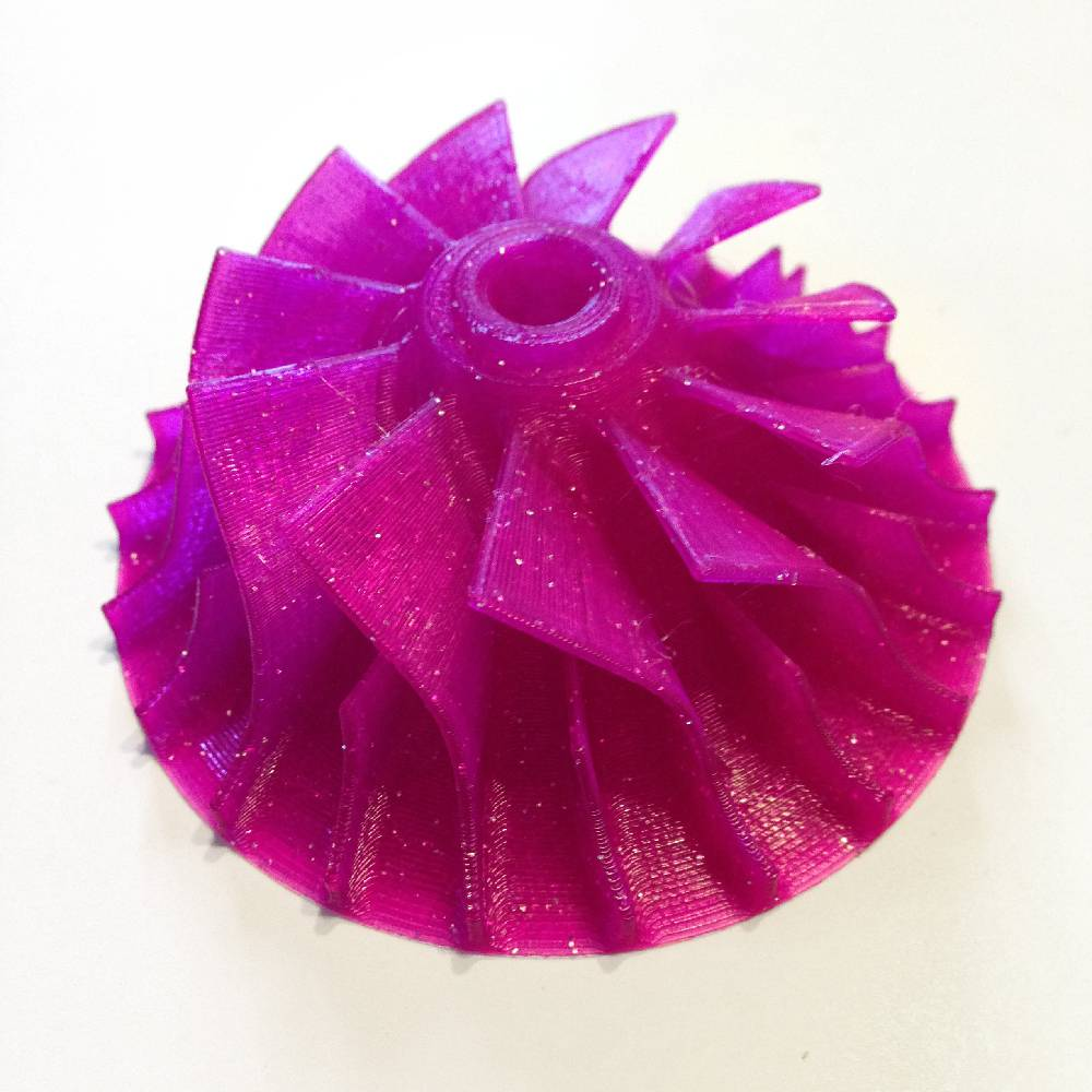 FiloAlfa 1,75 mm PLA filamento, Glitter Viola
