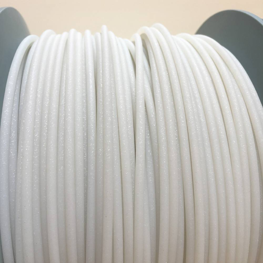 EUMAKERS 1.75 mm PLA filament, Glitter White