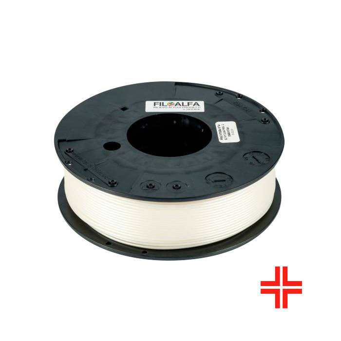 FiloAlfa 1.75 mm Bioflex medical PLA flexible filament, White