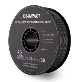Black Magic 3D 1,75 mm G6-Impact HIPS filamento con fibre di carbonio e grafene, Nero