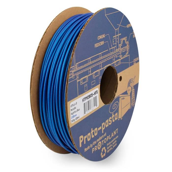 Proto-pasta 2.85 mm HTPLA filament, Metallic Highfive Blue
