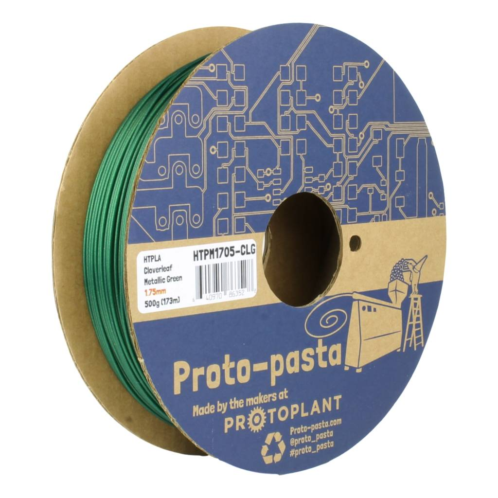 Proto-pasta 1.75 mm HTPLA filament, Cloverleaf Metallic Green