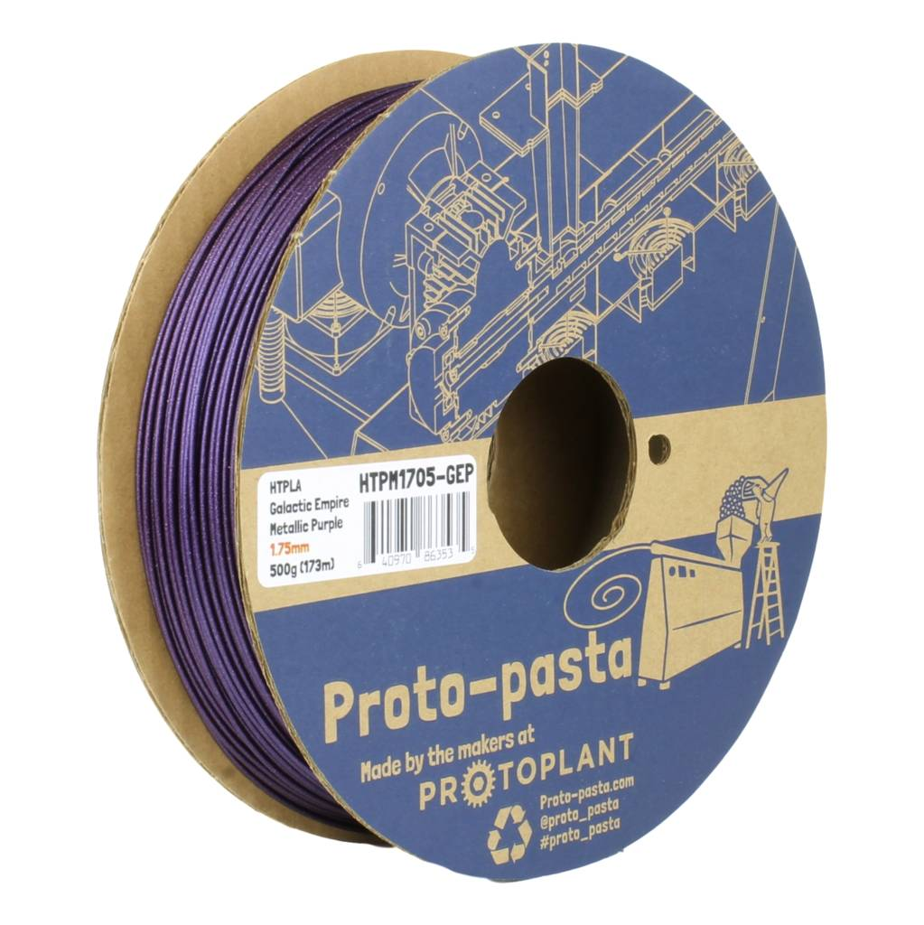 Proto-pasta 1.75 mm HTPLA filament, Galactic Empire Metallic Purple