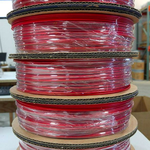Proto-pasta 1,75 mm HTPLA filamento, Candy Apple Metallic Red