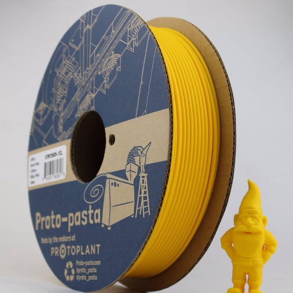 Proto-pasta 1,75 mm Matte Fiber HTPLA filamento, Giallo