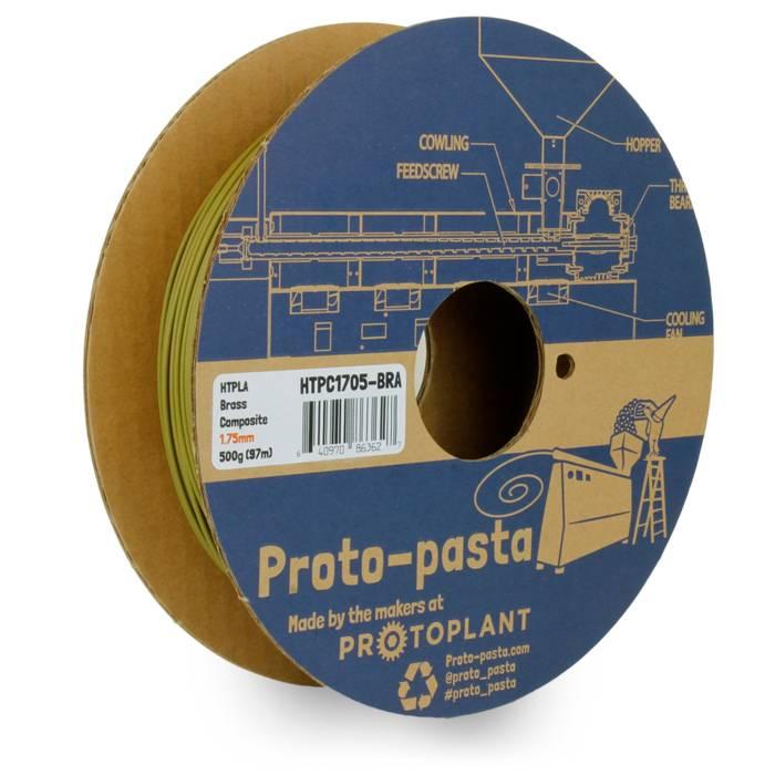 Proto-pasta 1.75 mm Brass Metal HTPLA filament