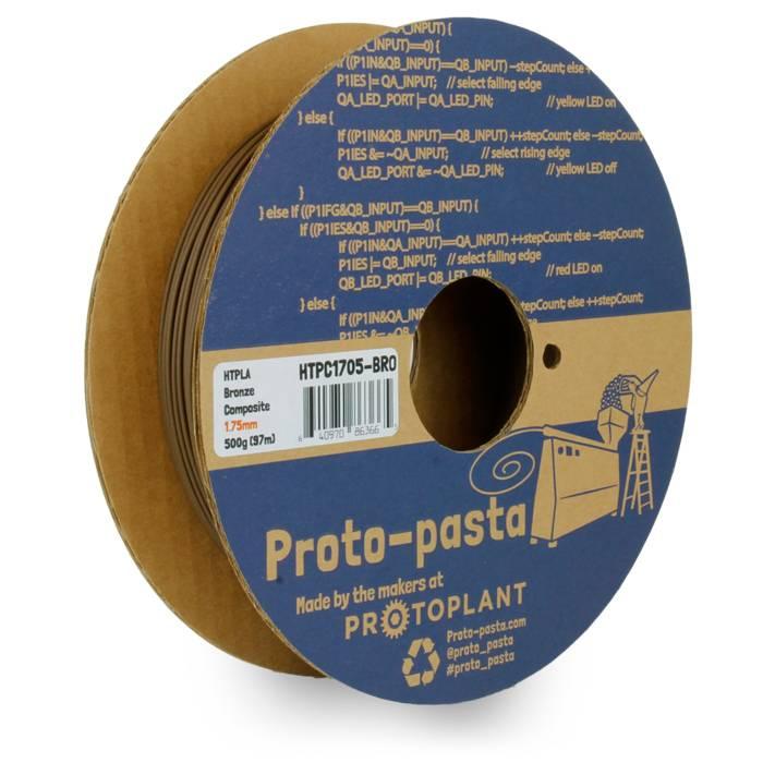 Proto-pasta 1,75 mm Bronze Metal HTPLA filamento metallico