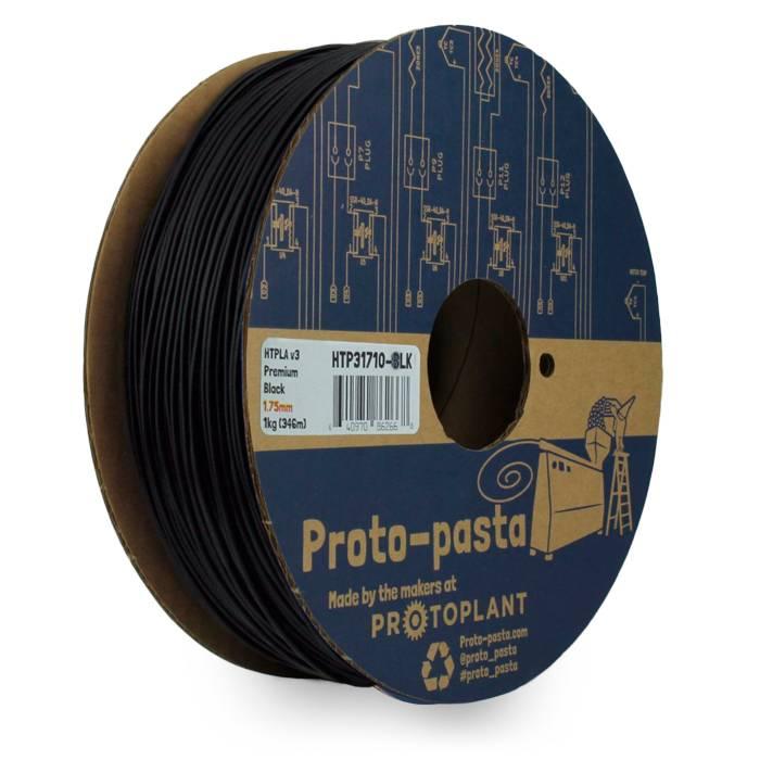 Proto-pasta 1,75 mm Premium HTPLA v3 filamento, Nero