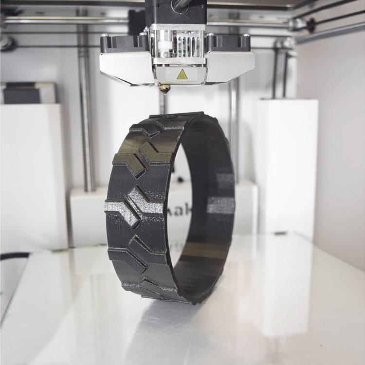 NinjaTek 1,75 mm Cheetah filamento flessibile, Grigio