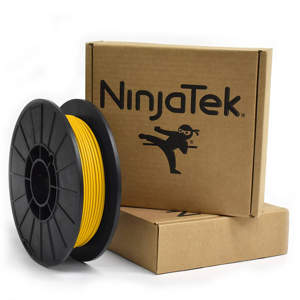 NinjaTek 3 mm NinjaFlex flexible filament, Sun yellow