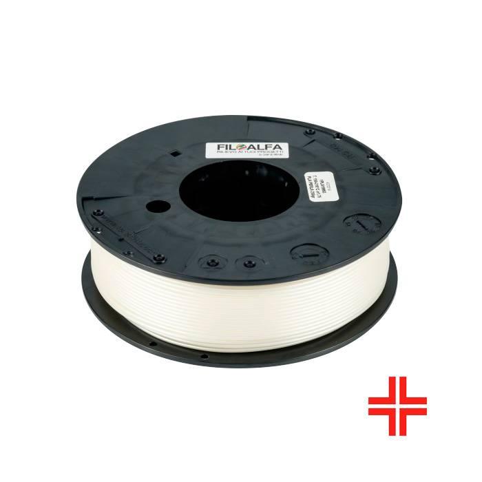 FiloAlfa 2.85 mm Bioflex medical PLA flexible filament, White