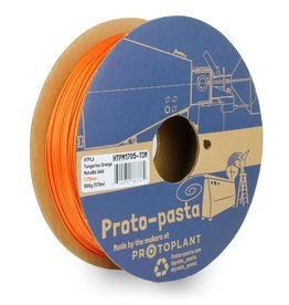 Proto-pasta 1,75 mm HTPLA filamento, Tangerine Orange Metallic