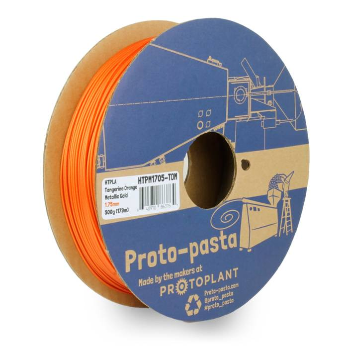 Proto-pasta 1.75 mm HTPLA filament, Tangerine Orange Metallic