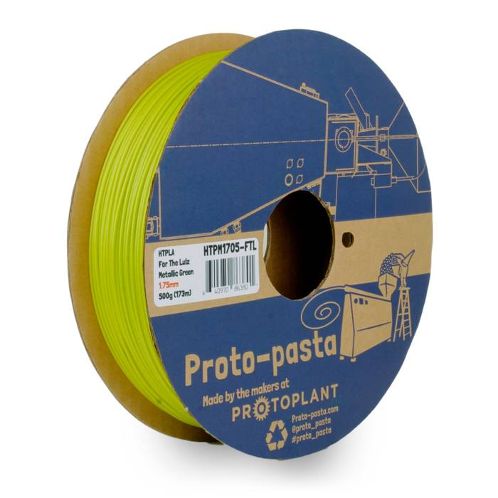 Proto-pasta 1.75 mm HTPLA filament, For the Lulz Metallic Green