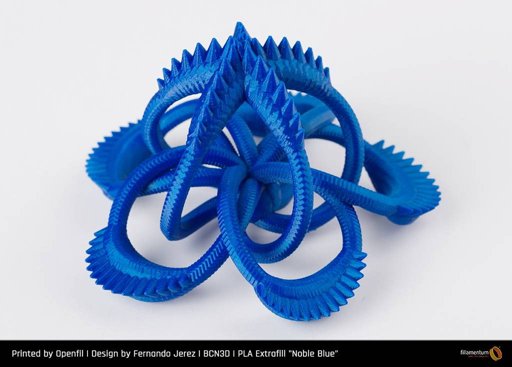 Fillamentum 1,75 mm PLA Extrafill filamento, Noble Blue