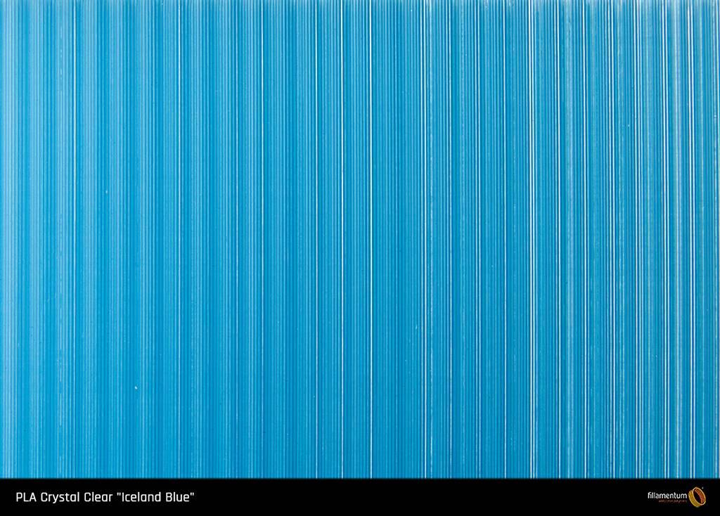 Fillamentum 2.85 mm PLA Crystal Clear filament, Iceland Blue