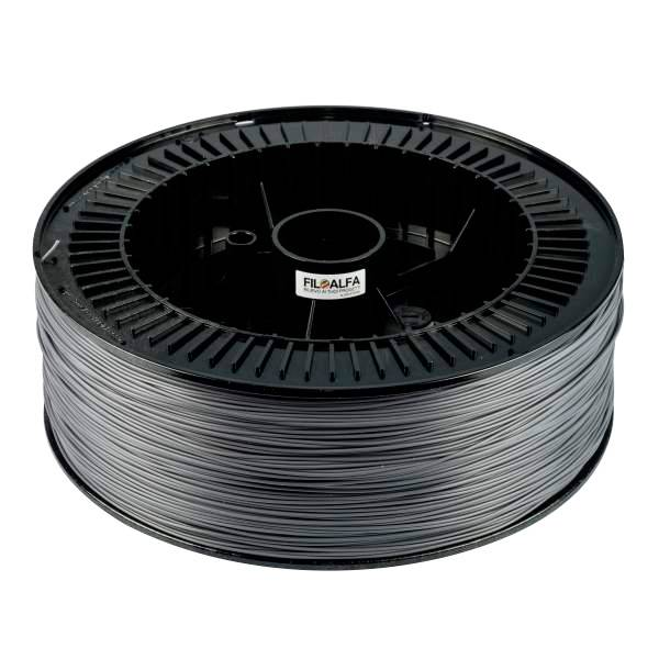 FiloAlfa 1.75 mm PLA Fablab filament, Grey - Big spool