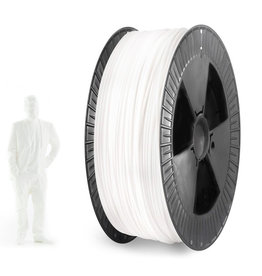 EUMAKERS 1.75 mm PLA filament, White - Big Spool