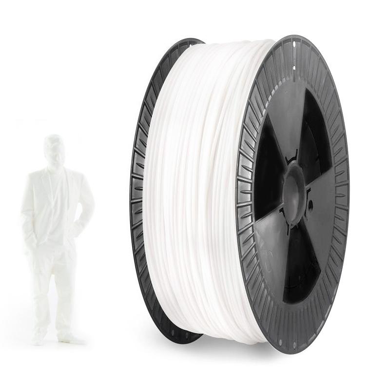 EUMAKERS 1.75 mm PLA filament, White - Big Spool