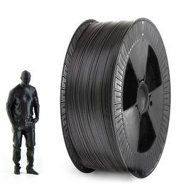 EUMAKERS 1,75 mm PLA filamento, Nero - Bobina XL