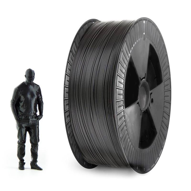 EUMAKERS 1.75 mm PLA filament, Black - Big Spool