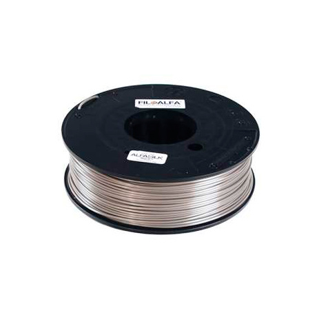 FiloAlfa 1,75 mm ALFAsilk filamento, Grigio seta