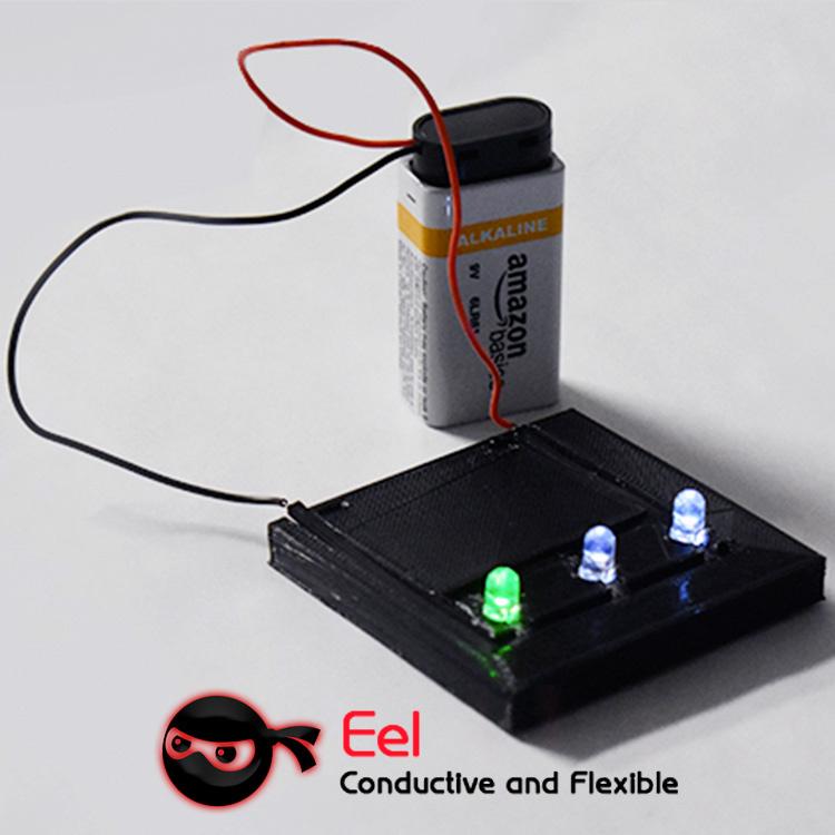 NinjaTek 1.75 mm EEL conductive flexible filament, Midnight Black