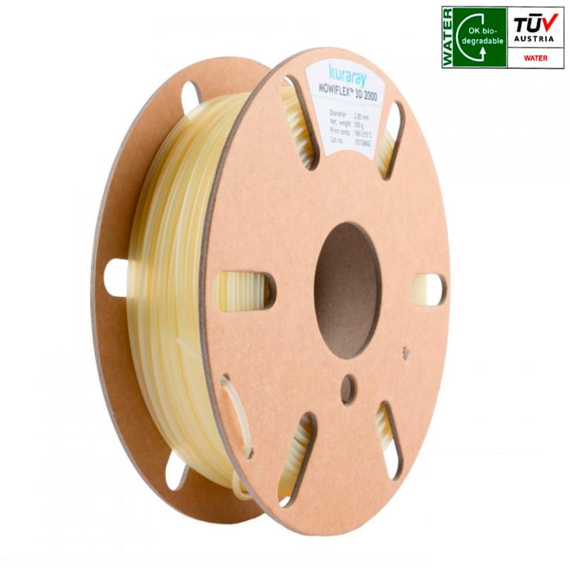 Kuraray 1.75 mm PVOH Mowiflex™ 3D 2000 water soluble support filament